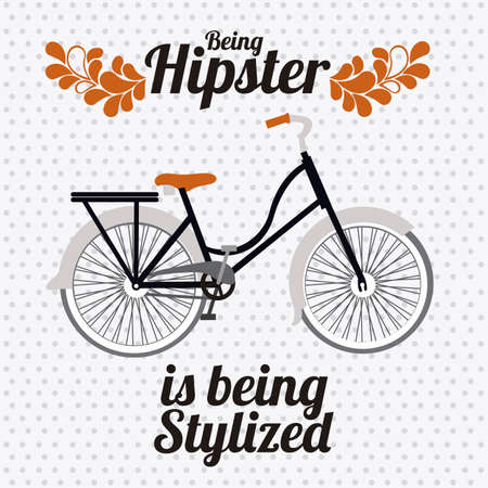glases: Illustration of style hipster, hipster culture and community, vector illustration