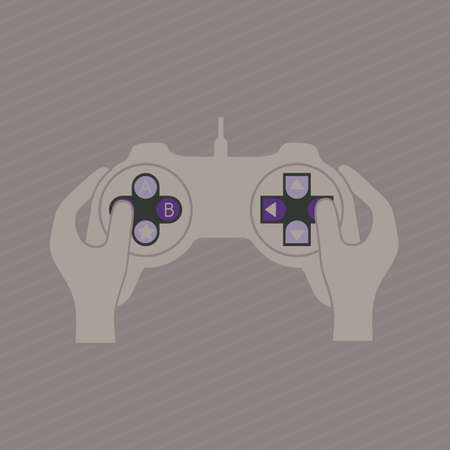 videogame: illustration of game controls, Video games Silhouettes, vector illustration