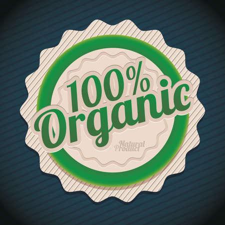 Ilustraci�n de etiquetas para productos org�nicos, productos verdes, ilustraci�n vectorial Foto de archivo - 19461839