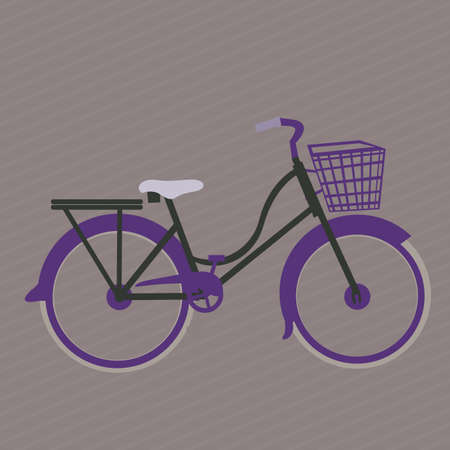 Illustration of Bicycle, Riding on the bicycle, vector illustration Vector