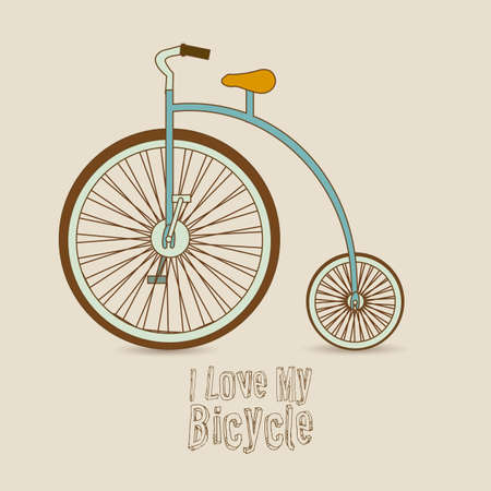 Illustration of Bicycle, Riding on the bicycle, vector illustration Stock Vector - 19461859