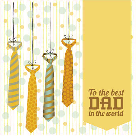 happy fathers day card: Illustration for dad, happy fathers day, vector illustration Illustration