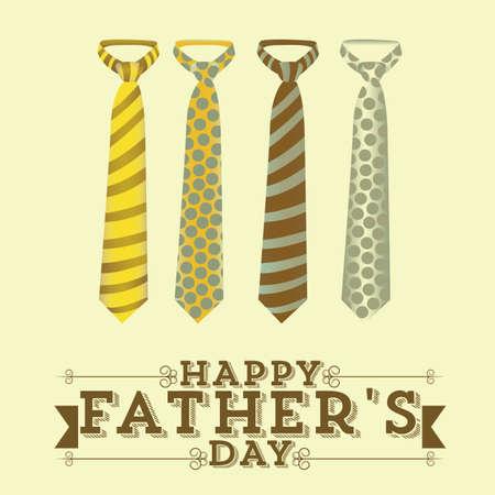 tie necktie: Illustration for dad, happy fathers day, vector illustration Illustration