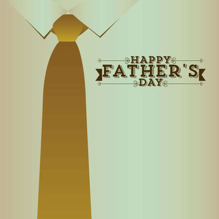 red tie: Illustration for dad, happy fathers day, vector illustration Illustration