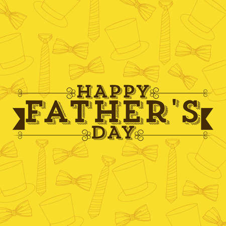 colourful tie: Illustration for dad, happy fathers day, vector illustration Illustration