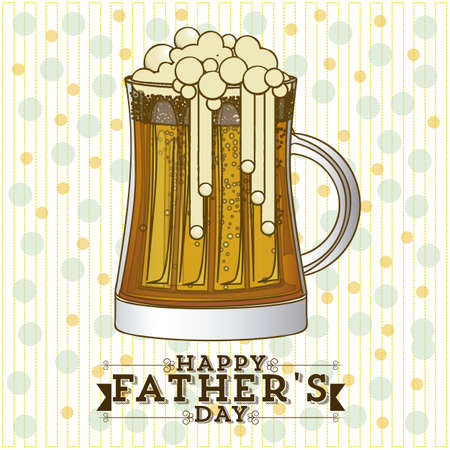 beer card: Illustration for dad, happy fathers day, vector illustration Illustration