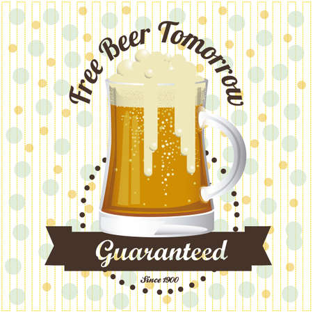 brew beer: Illustration of beer free label, beer poster, vector illustration Illustration