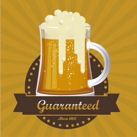Illustration of beer free label, beer poster, vector illustration Vector