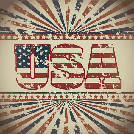 Illustration patriot united states of america, usa poster, vector illustration