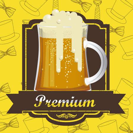 Illustration of beer free label, beer poster, vector illustration Stock Vector - 19461969