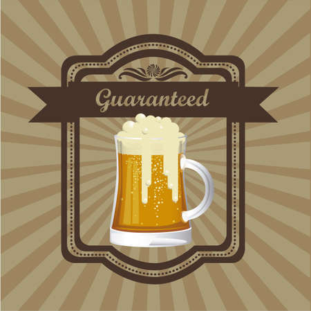 droughts: Illustration of beer free label, beer poster, vector illustration Illustration