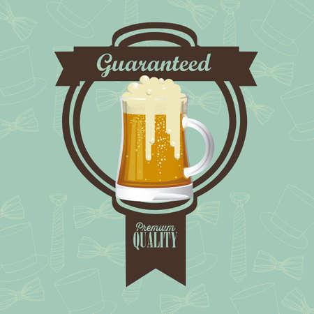 Illustration of beer free label, beer poster, vector illustration Stock Vector - 19461982