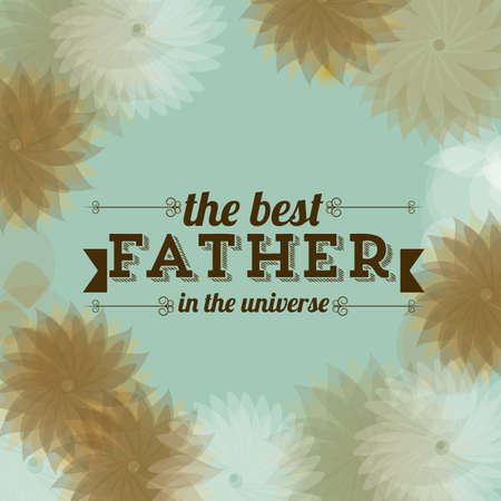 Illustration for dad, happy fathers day, vector illustration Vector