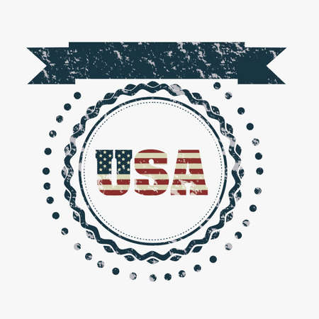 Illustration patriot united states of america, usa poster, vector illustration Vector