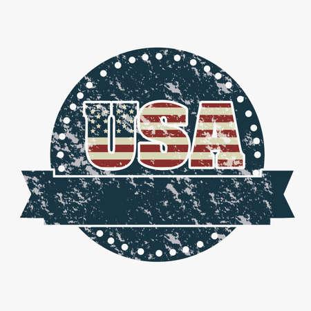 Illustration patriot united states of america, usa poster, vector illustration Stock Vector - 19462036
