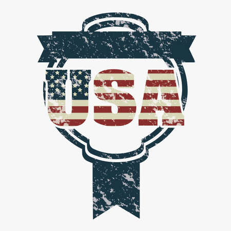 antiqued: Illustration patriot united states of america, usa poster, vector illustration