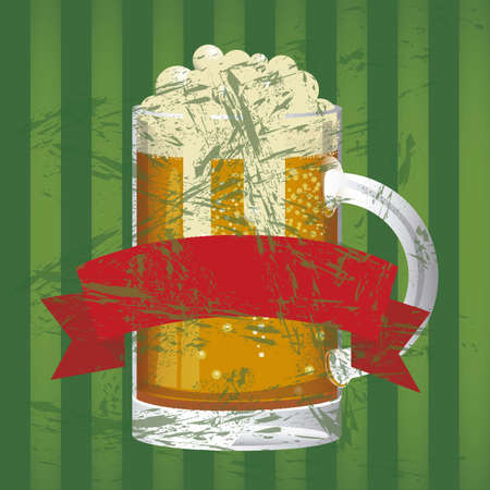 Illustration of beer free, beer poster, vector illustration Vector