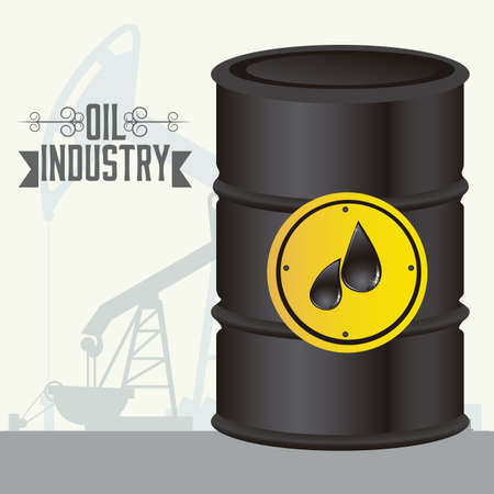 Illustration of the oil industry, oil exploitation icons, illustration Stock Vector - 19673444