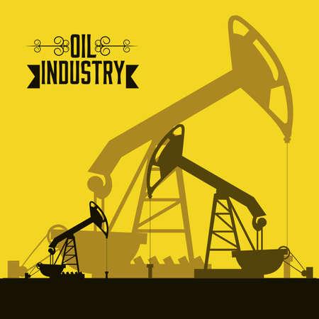 benzine: Illustration of the oil industry, oil pump, illustration