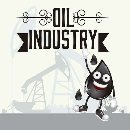 Illustration of the oil industry, oil cartoon character, illustration Stock Vector - 19673457