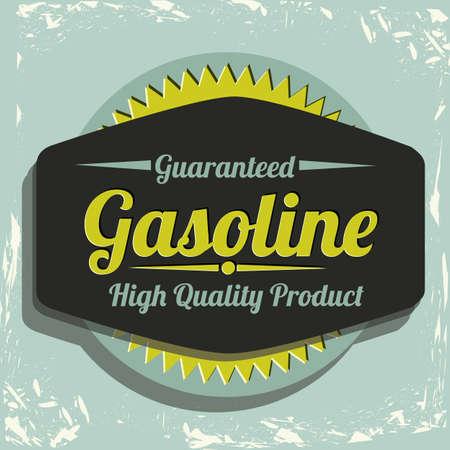 Illustration of the gasoline industry, motor oil label, illustration Vector