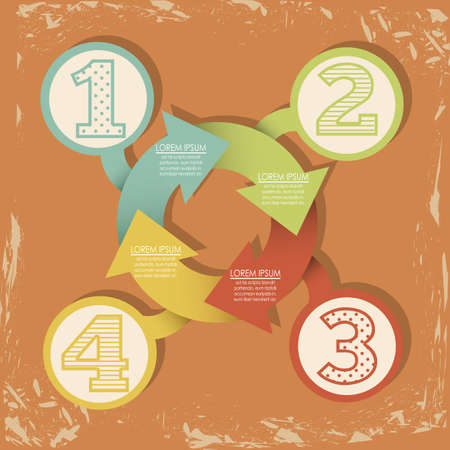 sequences: Illustration of Numbers Brochure, step by step, count or list, illustration Illustration