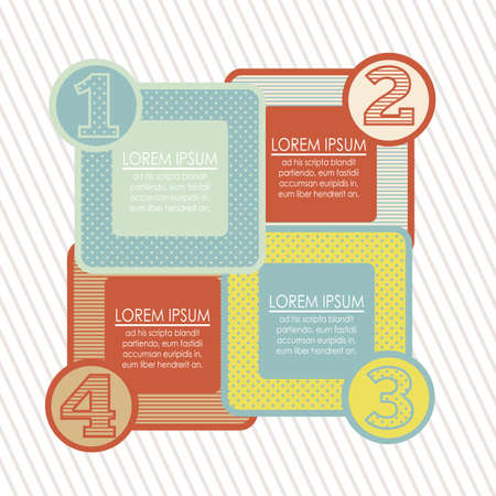 Illustration of Numbers Brochure, step by step, count or list, illustration Illustration