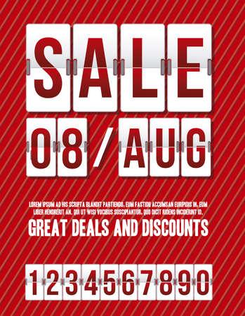 Illustration of Sale with countdown timer, illustration  Vector