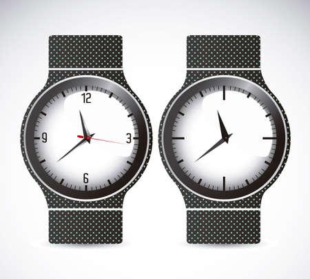 winder: Illustration of clock time icons, illustration Illustration