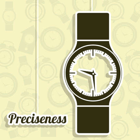 Illustration of clock and time icons, illustration Stock Vector - 19673435