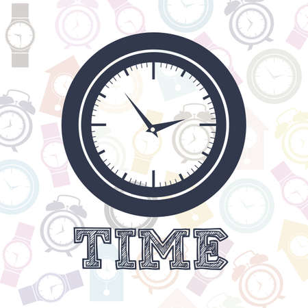 Illustration of clock and time icons, illustration Stock Vector - 19673452