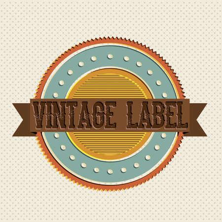 Vintage label over white background illustration