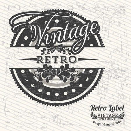 Vintage seal over grunge background illustration Vector