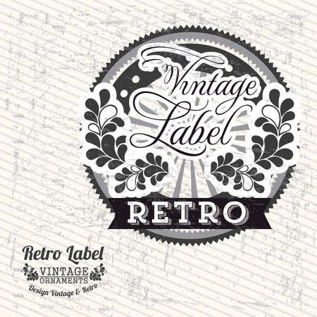 Vintage label over grunge background illustration Vectores