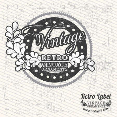 Vintage label over gray background illustration