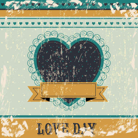Love day card over blue background illustration Vector