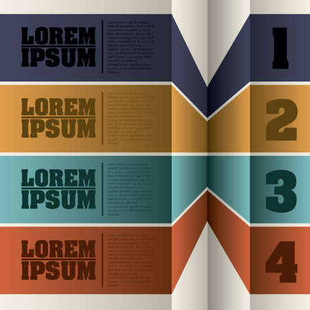 sequences: Numbers label over white background illustration
