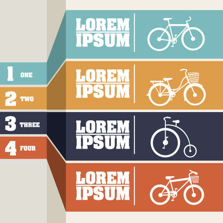 one wheel bike: Bicycle infographics  over gray background illustration  Illustration