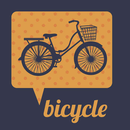 Bicycle message over black background illustration  Vector