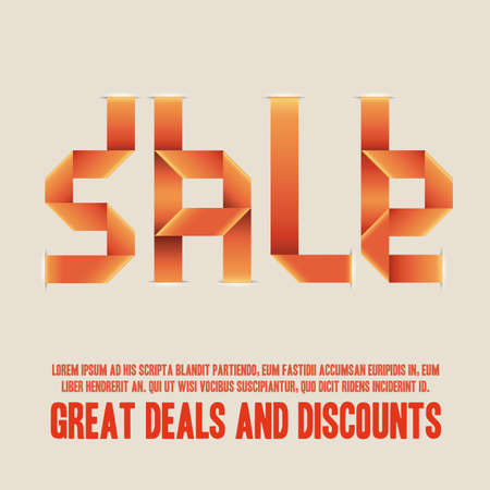 sale design over orange background illustration   Vector