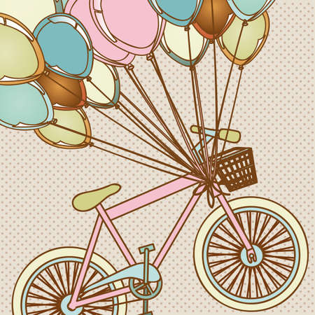 balloons design over dotted background illustration  Vector