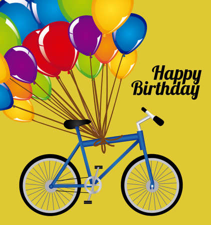 birthday design over yellow background vector illustration  Vector