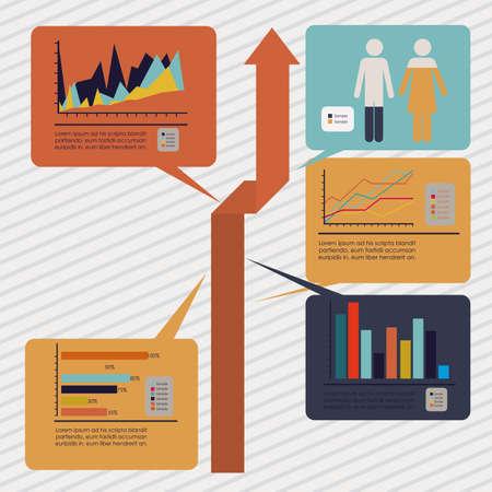 infographics design over grunge background illustration  Illustration