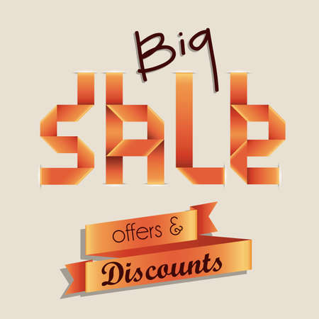 big sale over lilac background illustration  Vector