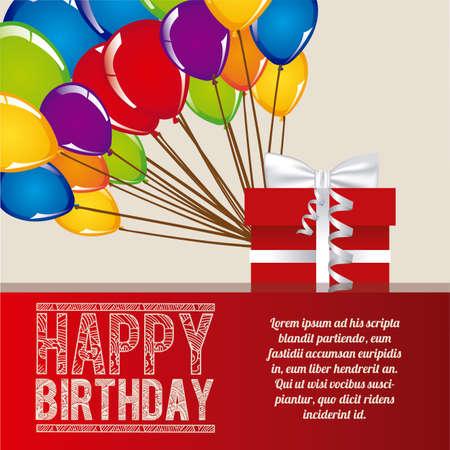 feliz cumpleaños sobre lila ilustración de fondo Ilustración de vector