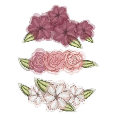 floral design over white background illustration  Vector