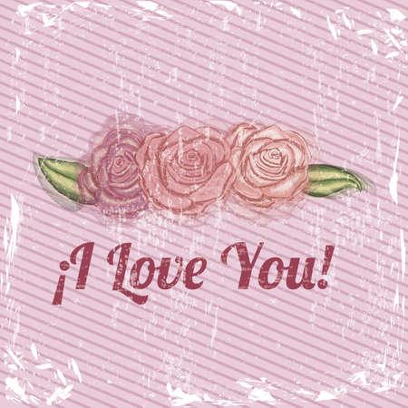 i love you design over pink bacground vector illustration