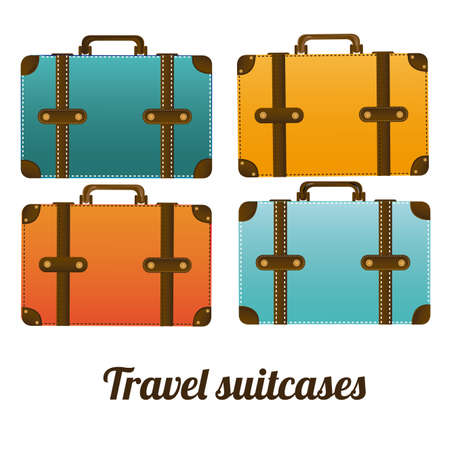 travel sitcases over white background vector illustration  Vector