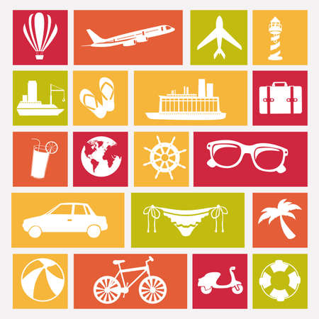 travels icons over white background vector illustration  Vector