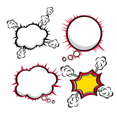 comics icons over white bacground vector illustration Stock Vector - 20070121